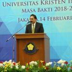 Dr. Dhaniswara K Harjono Resmi Jadi Rektor UKI Gantikan Dr. Maruarar Siahaan