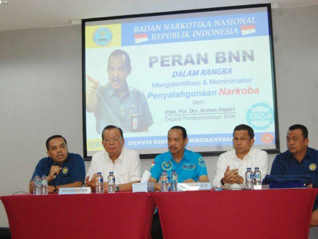 Irjen.Pol.Drs.Arman Depari (Deputi Pemberantasan BNN RI): Narkoba Menduduki Peringkat Pertama Dalam Daftar Kejahatan Di Dunia